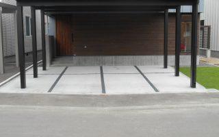 札幌市東区 駐車場コンクリート舗装工事