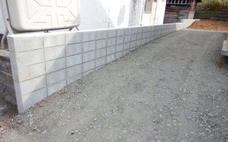 札幌市手稲区 フレコンブロック塀工事