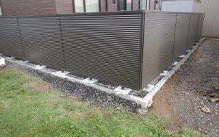 札幌市北区 アルミ形材フェンス1400mmH設置工事