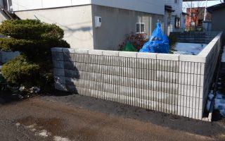 札幌市北区 化粧ブロック塀工事