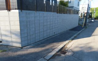 札幌市南区 フレコン型枠ブロック土止め工事・フェンス工事